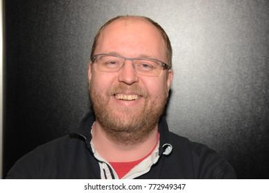 Dortmund, Germany - December 9th 2017: Gerrit Schmidt-FoÃ?, german actor and voice actor (* 1975, german voice of Leonardo DiCaprio, Jim Parsons) at German Comic Con Dortmund.