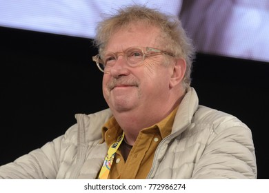 Dortmund, Germany - December 9th 2017: British Actor Mark Williams (* 1959, Arthur Weasley in the Harry Potter films) at German Comic Con Dortmund. More than 30 celebrities attended the event.