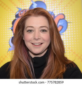 Dortmund, Germany - December 9th 2017: US Actress Alyson Hannigan (* 1974, Buffy The Vampire Slayer, Angel, How I Met Your Mother, American Pie) at German Comic Con Dortmund.