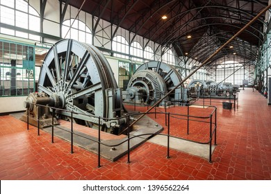 DORTMUND, GERMANY - JULY 04, 2018: Zeche Zollern is a decommissioned hard coal mine complex in the northwest of Dortmund city in Germany