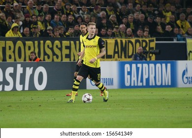 DORTMUND, GERMANY - OCT 1: Marco Reus (BVB) during a Champions League match between Borussia Dortmund & Olympique de Marseille, final score 3-0, on October 1, 2013, in Dortmund, Germany.