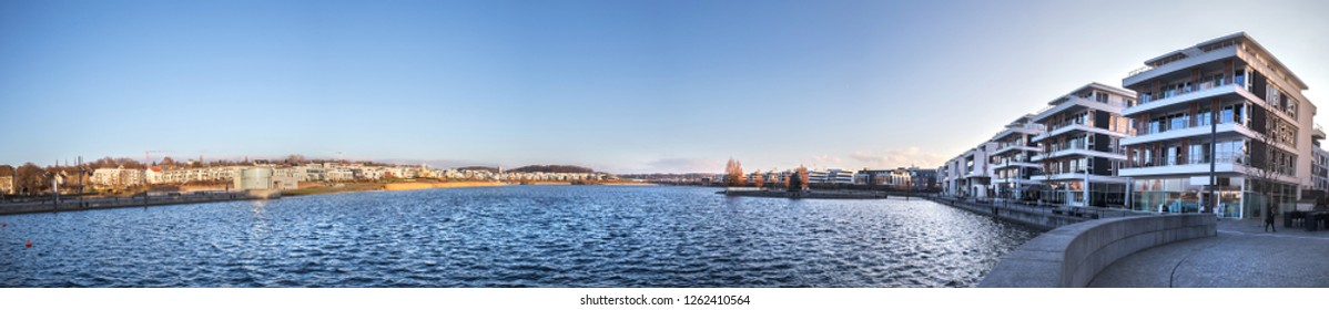 dortmund germany phoenixsee lake high definition panorama