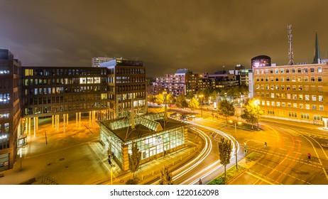 Dortmund, North Rhine Westphalia, Germany - October 18, 2018: Dortmunder U Tower Centre for Art and Creativiity
