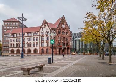 Dortmund, North Rhine Westphalia, Germany - October 18, 2018: Historic City hall in  Dortmund Germany