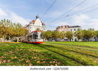 Dortmund, North Rhine Westphalia, Germany - October 19, 2018: Borsigplatz Innstadt-Nord in Dortmund Germany.  is famous for being the birthplace of football club Borussia Dortmund.