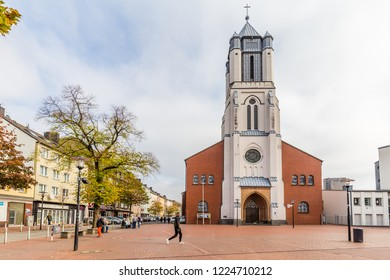 Dortmund, North Rhine Westphalia, Germany - October 19, 2018: St. Joseph church Innstadt-Nord in Dortmund Germany.
