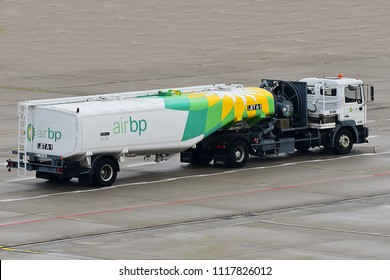 DORTMUND,GERMANY-JUNE 08,2018: AIR BP (BRITISH PETROLEUM) truck.