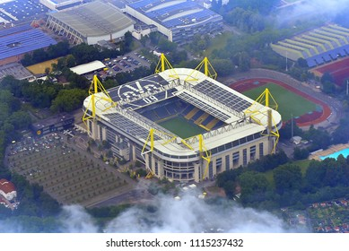 DORTMUND,GERMANY-JUNE 08,2018: view on the BORUSSIA DORTMUND stadium.