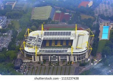 DORTMUND,GERMANY-JUNE 08,2018: view on the BORUSSIA DORTMUND stadium.