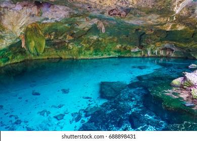 Dos Ojos Cenote Near Tulum And Playa Del Carmen in Mexico