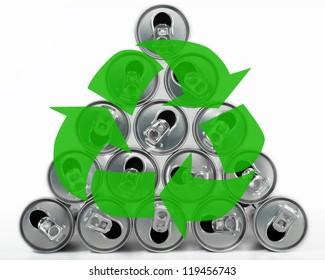 Getr�¤nke Dose Pyramide Recycling