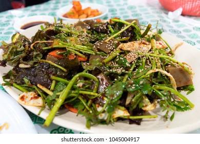 Dotorimuk, Acorn Jelly Salad, Korean food