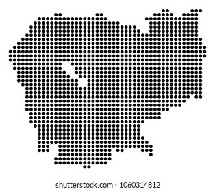Cambodian map images stock photos vectors shutterstock dotted cambodia map raster composition of cambodia map composed of round dots raster geographic malvernweather Gallery