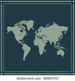 Blueprint australia images stock photos vectors shutterstock dotted world map over blueprint background raster retro illustration malvernweather Images