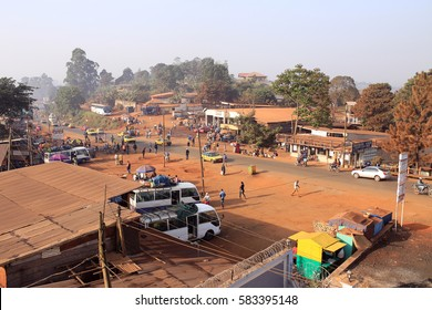 DOUALA - CAMEROON / 15.01.2015: A local village in Cameroon near to Douala city, Africa