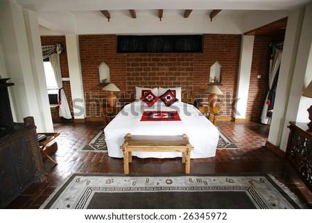 Double Bed Beautiful Hotel Kathmandu Nepal Stock Photo Edit Now
