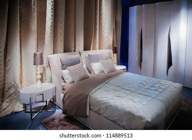 double bed in contemporary style