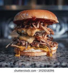 Double beef patty cheese burger