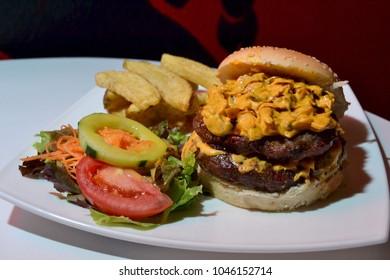double burger gourmet
