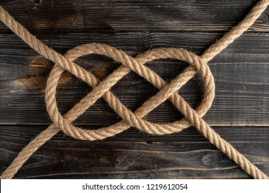 Double Carrick Bend. Rope knot
