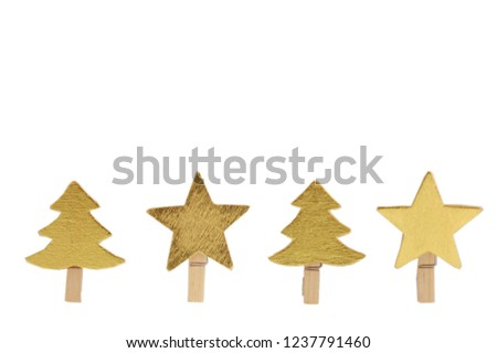 Double Christmas Ornaments Border Star Firtree Stock Photo Edit Now