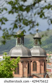 Double church towers in Miltenberg / Germany