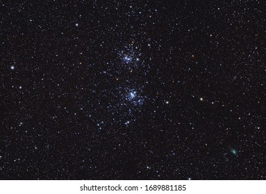 Double cluster in perseus constellation