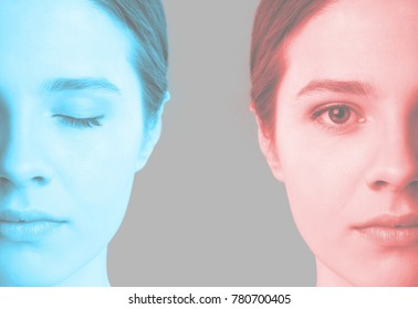 Double color effect of beauty