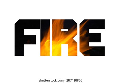 double exposure effect of the fire and word