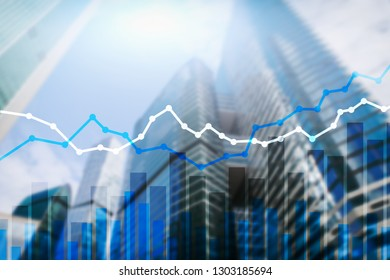 Double exposure financial graphs and diagrams.