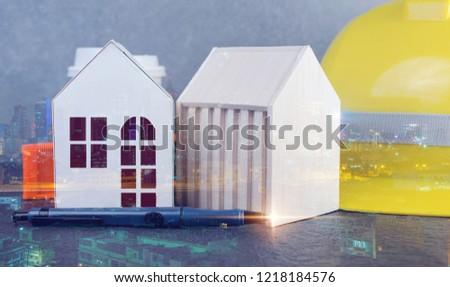 Double Exposure House Design Ideas Concept Stock Photo (Edit Now