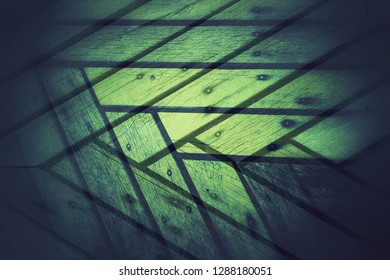 double exposure photography technic of grungy abstract image with graphic design style high contrast green color and wooden texture