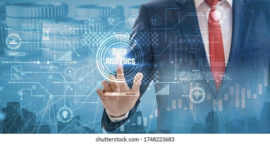double exposure-business data analytics process,digital transformation change management,financial charts and graph,interface screen marketing,concept marketing analysis,customer needs tracking