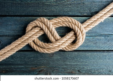 Double Figure Eight knot. Rope node