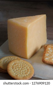 Double Gloucester a traditional creamy semi hard English cheese