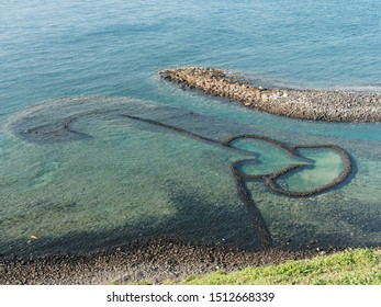 Double Hearts Stone Fishing Trap on Peng-Hu Island