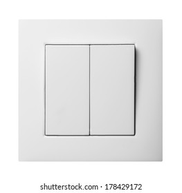 double light switch isolated on white background