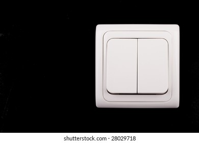 double light switch on black