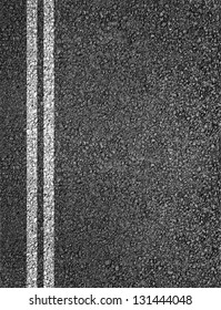 Double lines asphalt road background