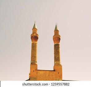 Double Minaret Madrasa in Sivas of Turkey. (Sivas, Turkey)