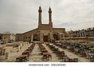 Double Minaret Madrasah in SIVAS,TURKEY 20.03.2018