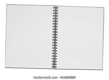 Double page spread empty ring bound note pad with copy space. Clipping path included for easy selection and incorporation into DPS layout