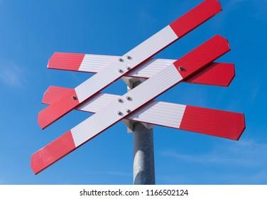 double railway crossing sign