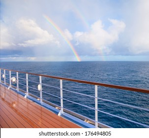 Double Rainbow from cruise ship