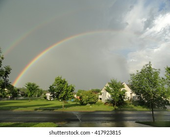 Double rainbow in a nice neighborhood.