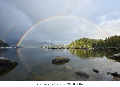 Double Rainbow Over Deep Cove, North Vancouver, BC