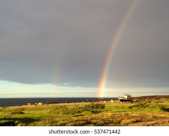 Double rainbow seen in Churchill, Manitoba