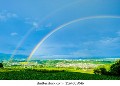 Double rainbows in after the rain