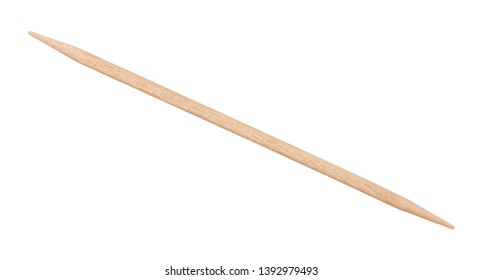 double sided beechwood toothpick isolated on white background