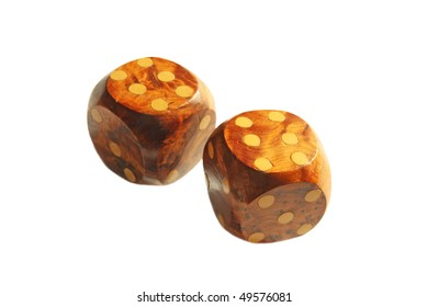 Double sixes. A winning position on the wooden dice.